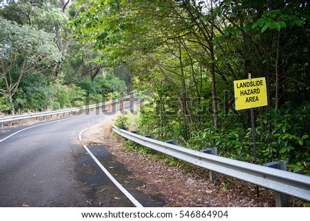 Landslide Hazard Warning Sign