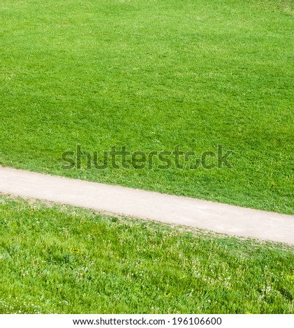 lane in green grass - stock photo