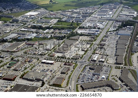 Langley Centre and Langley Bypass, British Columbia, Canada - stock photo