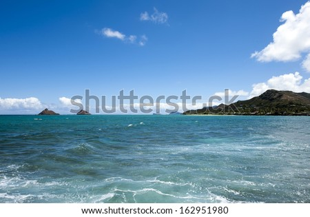 Lanikai Beach from Popoia Island, commonly known as Flat Island, is a state seabird-6