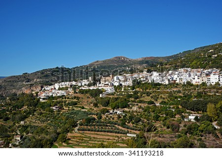 Lanjaron Town, Granada Province, Andalusia, Spain - stock photo