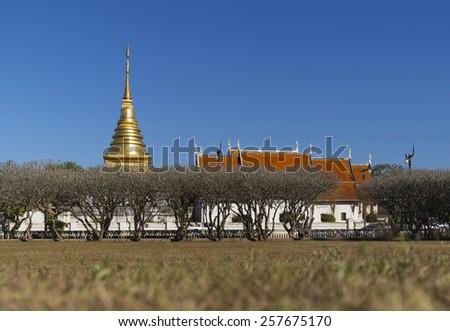 Lanna temple, Nan province, Thailand - stock photo