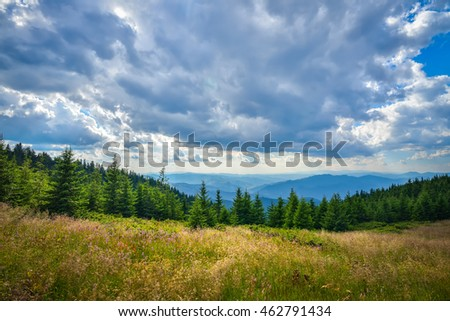 Lanscape in Ceahlau mountains, Romania
