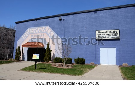 LANSING, MI - MARCH 27:  Lansing's Riverwalk Theater, shown on March 27, 2016, is hosting its 27th season this year.  - stock photo