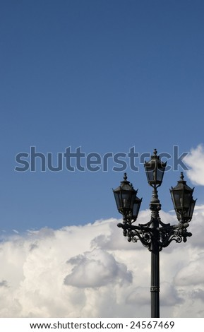 Lantern and white clouds