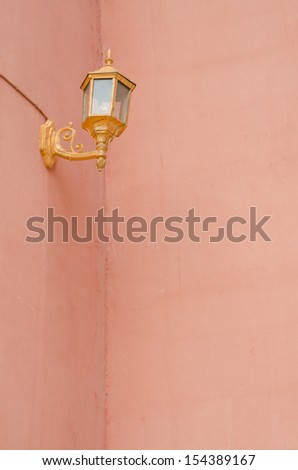Lantern decorations on the walls pink