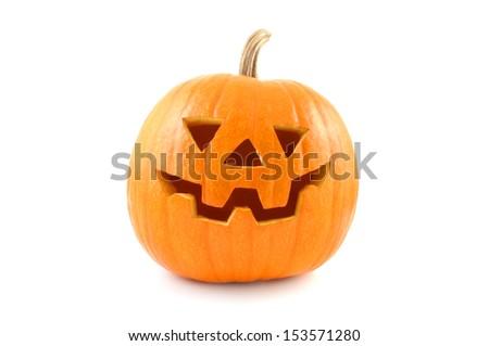 Lantern halloween pumpkin  - stock photo