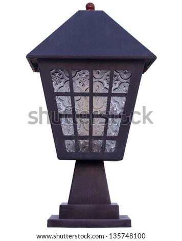 lantern Isolated on white background, - stock photo