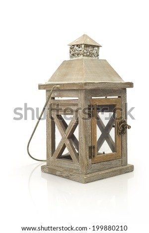 Lantern isolated / Ramadan Lamp concept  - stock photo