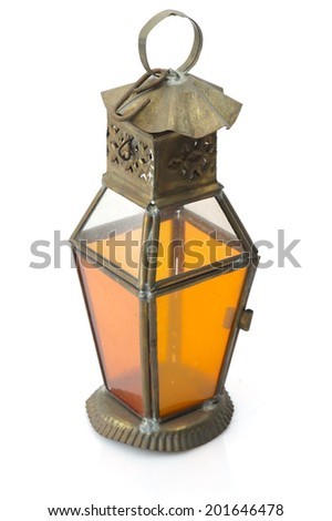 Lantern Isolated, Ramadan Lamp Concept - stock photo