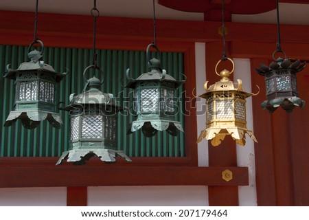 Lanterns at Kasuga-taisha - stock photo