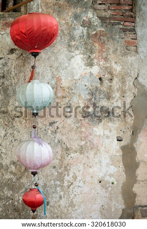 Lanterns in the ancient town of Hoi An, Vietnam - stock photo