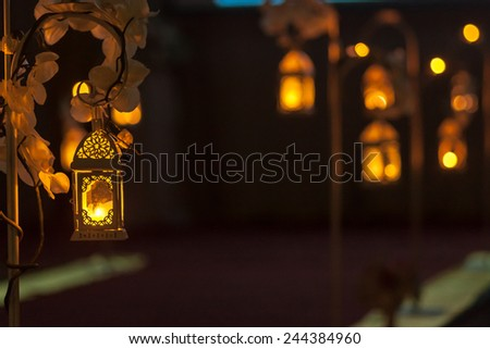 Lanterns on wedding stage decoration stock photo royalty free lanterns on wedding stage decoration junglespirit Image collections