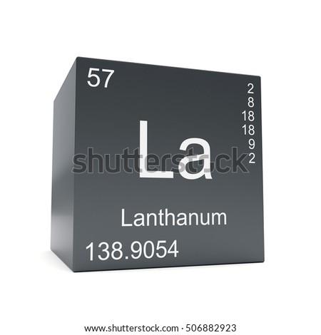 Lanthanum Chemical Element Symbol Periodic Table Stock Illustration