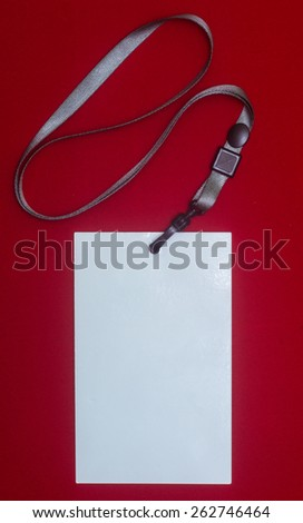 Lanyard and badge - stock photo