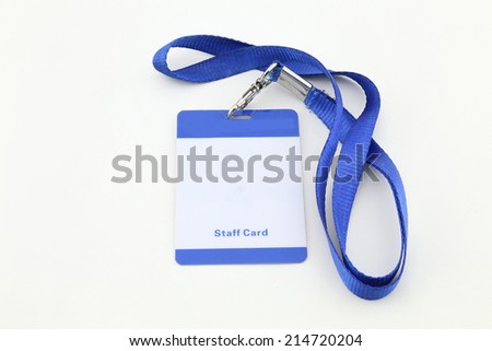 Lanyard For Badge Tag - stock photo