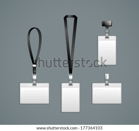 Lanyard, retractor end badge templates Illustration