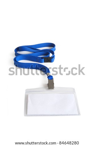 lanyard with ID card holder - stock photo