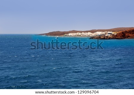 Lanzarote El Golfo Atlantic ocean cityscape in Canary Islands