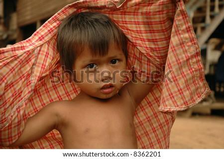 Lao boy - stock photo