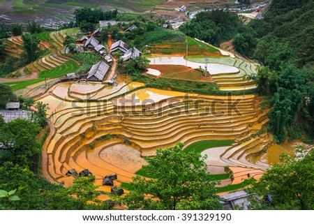 Lao Cai-Vietnam landscape
