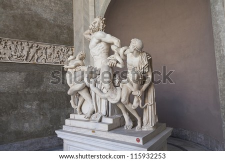 Laocoon and his sons. Vatican Museums, Rome