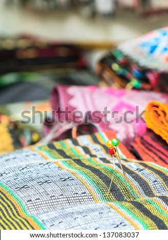 Laos silk cloth ,handmade Product