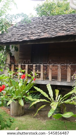 Laos wooden house