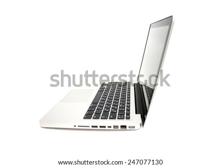 Laptop and Keyboard - stock photo