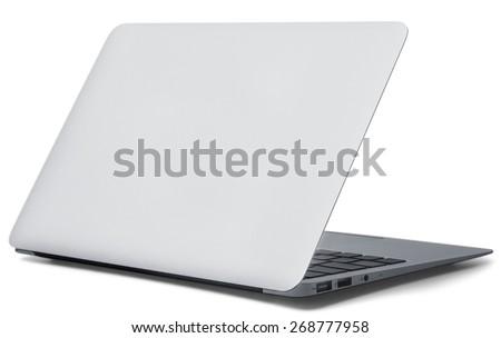 Laptop, back, netbook. - stock photo