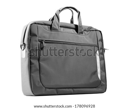 Laptop bag isolated on a white background - stock photo