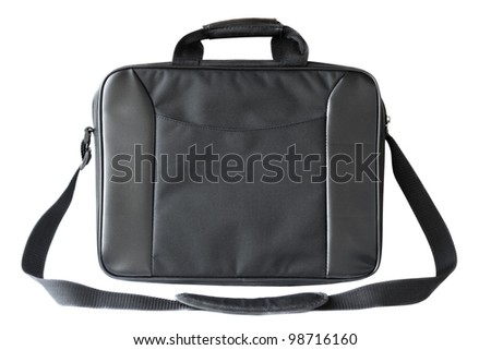 Laptop bag isolated on white - stock photo