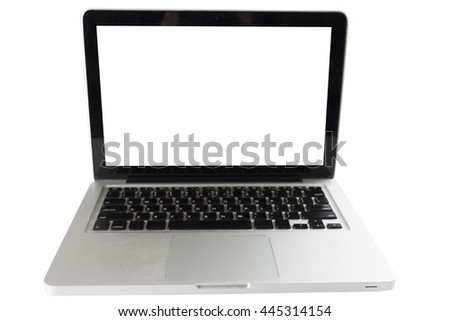 laptop computer notebook on white background