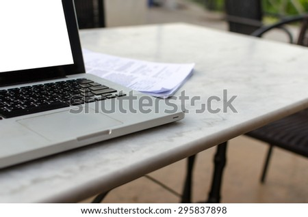 laptop computer on table