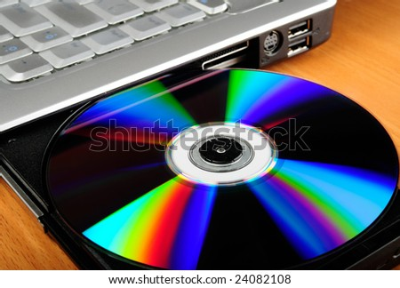 Laptop computer with compact disk