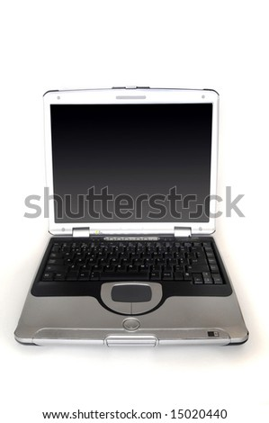 Laptop in a white background