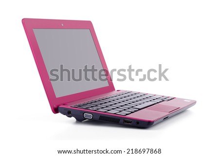 Laptop isolated against a white background.