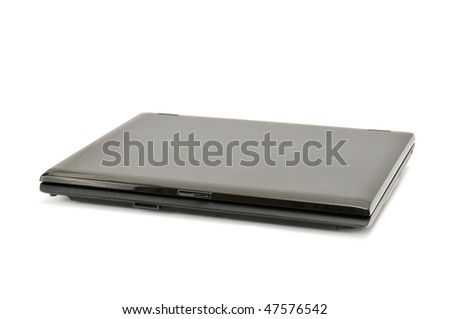 laptop isolated on a white background - stock photo