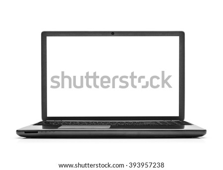 Laptop isolated on white background with clipping path.