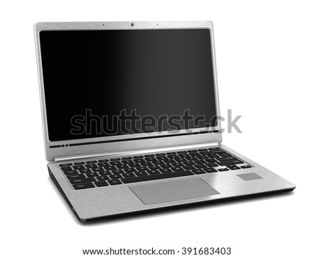 Laptop. Isolated on white. 3d illustration