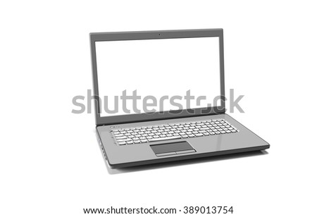 laptop isolated on white with clipping path
