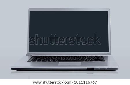 laptop isolated over white background.