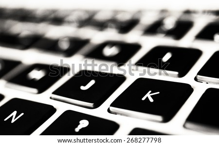 Laptop keyboard - stock photo