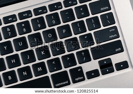 Laptop Keyboard. Ultra high resolution photo. - stock photo