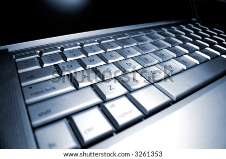 Laptop Keyboard Very Shallow depth of field