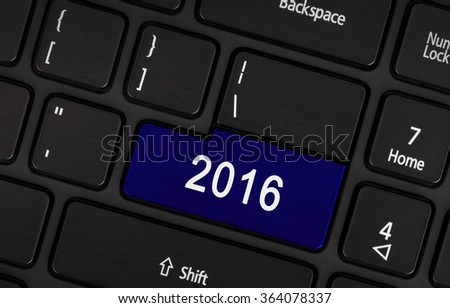 Laptop keyboard with a blue button 2016