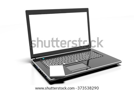 laptop, mobile phone, isolated on white with clipping path
