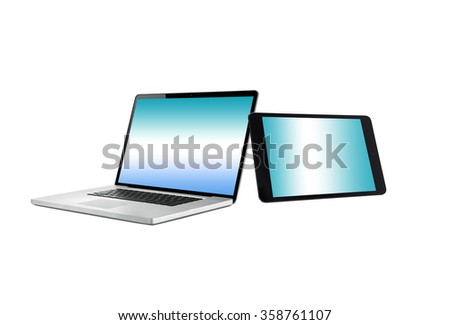 Laptop notebook computer and digital tablet