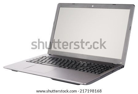 Laptop (notebook) isometric view isolated on the white