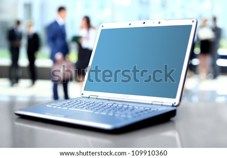 laptop on office desk